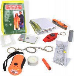 survival-tipps, Outdoor Survival Pack 13-tlg. inkl. praktischer Tasche
